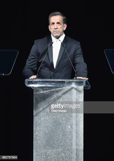 Kenneth Cole accepts the Swarovski Award for Positive Change onstage during the 2017 CFDA Fashion Awards at Hammerstein Ballroom on June 5 2017 in...