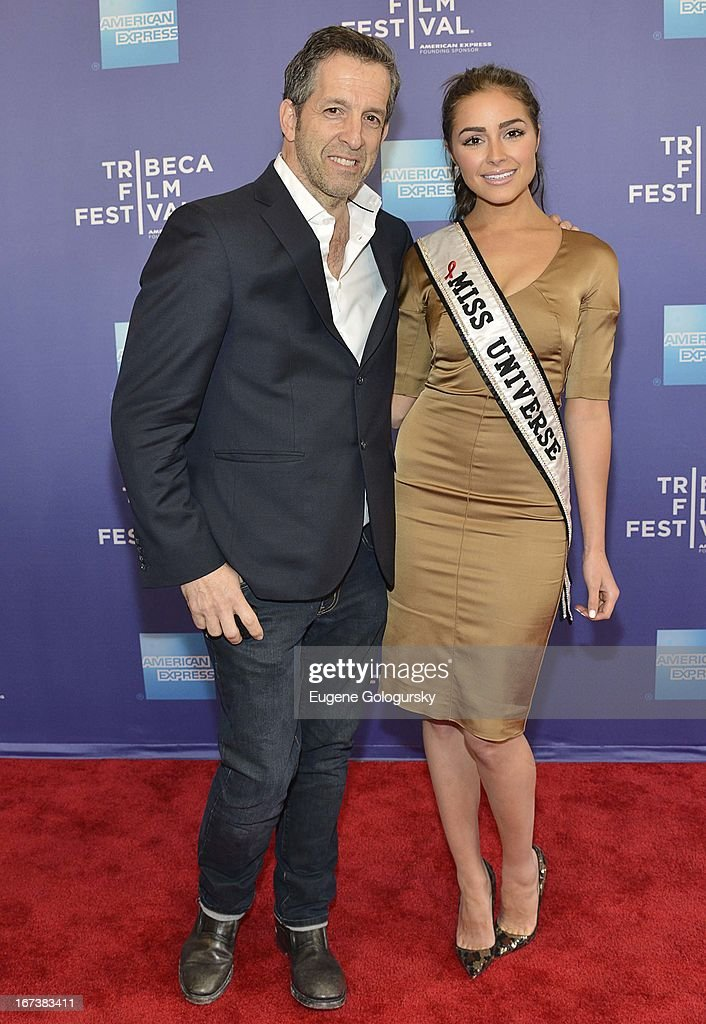 Kenneth Cole and Olivia Culpo attend Tribeca Talks: After the Movie: 'Battle of amFAR' during the 2013 Tribeca Film Festival at SVA Theater on April 24, 2013 in New York City.