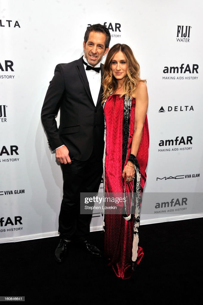 Kenneth Cole and <a gi-track='captionPersonalityLinkClicked' href=/galleries/search?phrase=Sarah+Jessica+Parker&family=editorial&specificpeople=201693 ng-click='$event.stopPropagation()'>Sarah Jessica Parker</a> attend the amfAR New York Gala to kick off Fall 2013 Fashion Week at Cipriani Wall Street on February 6, 2013 in New York City.