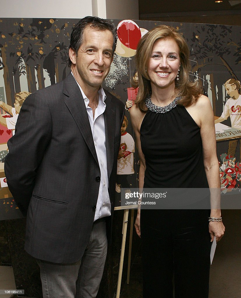 Kenneth Cole and Silda Wall Spitzer during Silda Wall Spitzer hosts The Art of Giving Benefit Gala at Christie's in New York City New York United...