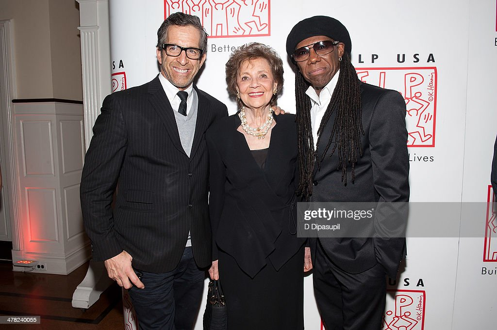 Kenneth Cole Matilda Cuomo and Nile Rodgers attend Help USA's 2014 Tribute Awards Dinner at 583 Park Avenue on March 12 2014 in New York City