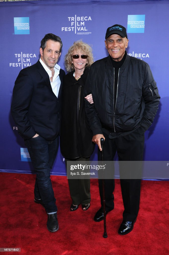 Kenneth Cole, Pamela Frank and Harry Belefonte attend Tribeca Talks: After The Movie: Battle Of amfAR during the 2013 Tribeca Film Festival on April 24, 2013 in New York City.
