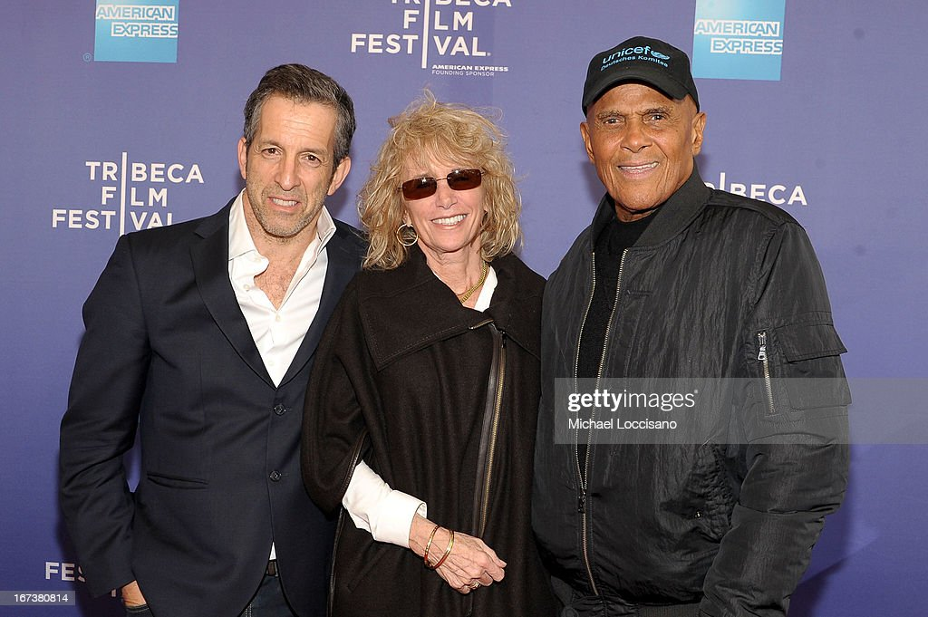 Kenneth Cole, Pamela Frank and Harry Belefonte attends HBO's 'The Battle of amfAR' premiere at Tribeca Film Festival on April 24, 2013 in New York City.