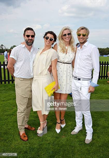 Kenneth Drewery Grace Woodward Rachel Gretton and Rick Parfitt Jnr attend Audi International at Guards Polo Club near Windsor to support England as...