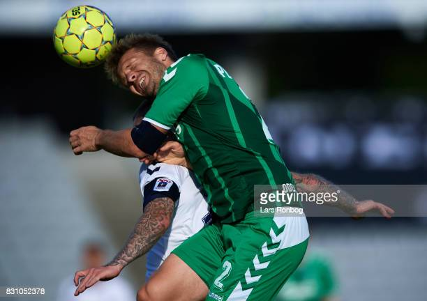 Kenneth Emil Petersen of OB Odense in action during the Danish Alka Superliga match between AGF Aarhus and OB Odense at Ceres Park on August 13 2017...