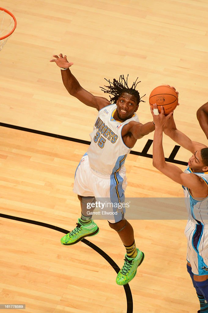 MVP <a gi-track='captionPersonalityLinkClicked' href=/galleries/search?phrase=Kenneth+Faried&family=editorial&specificpeople=5765135 ng-click='$event.stopPropagation()'>Kenneth Faried</a> of Team Chuck attempts to grab the ball against Team Shaq during 2013 BBVA Rising Stars Challenge at Toyota Center on February 15, 2013 in Houston, Texas.