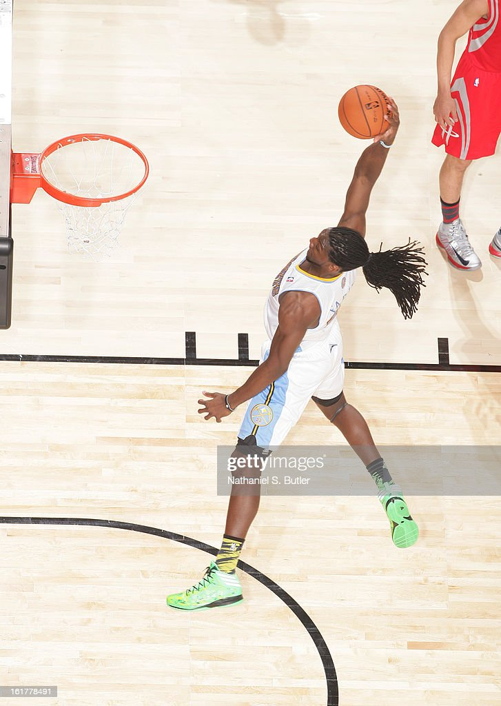 Kenneth Faried #35 of Team Chuck dunks while playing against Team Shaq during the 2013 BBVA Rising Stars Challenge at Toyota Center on February 15, 2013 in Houston, Texas.