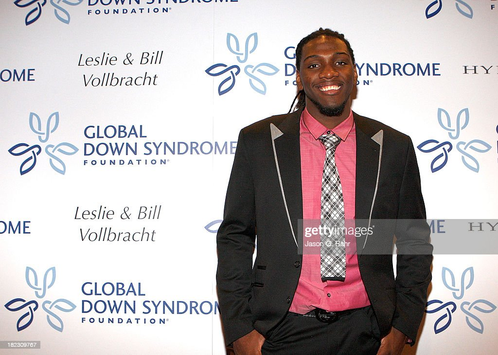 <a gi-track='captionPersonalityLinkClicked' href=/galleries/search?phrase=Kenneth+Faried&family=editorial&specificpeople=5765135 ng-click='$event.stopPropagation()'>Kenneth Faried</a> of the Denver Nuggets attends the Global Down Syndrome Foundation's Be Yourself Be Beautiful Fashion Show at Sheraton Downtown Denver Hotel on September 28, 2013 in Denver, Colorado.