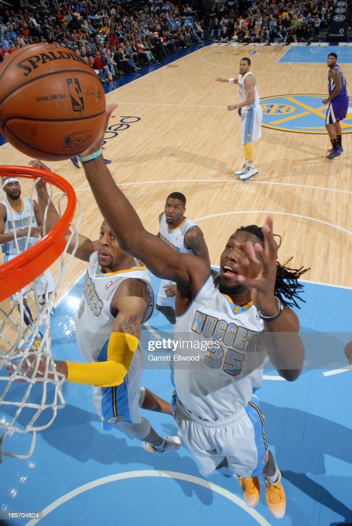 <a gi-track='captionPersonalityLinkClicked' href=/galleries/search?phrase=Kenneth+Faried&family=editorial&specificpeople=5765135 ng-click='$event.stopPropagation()'>Kenneth Faried</a> #35 of the Denver Nuggets drives to the basket against the Sacramento Kings on March 23, 2012 at the Pepsi Center in Denver, Colorado.