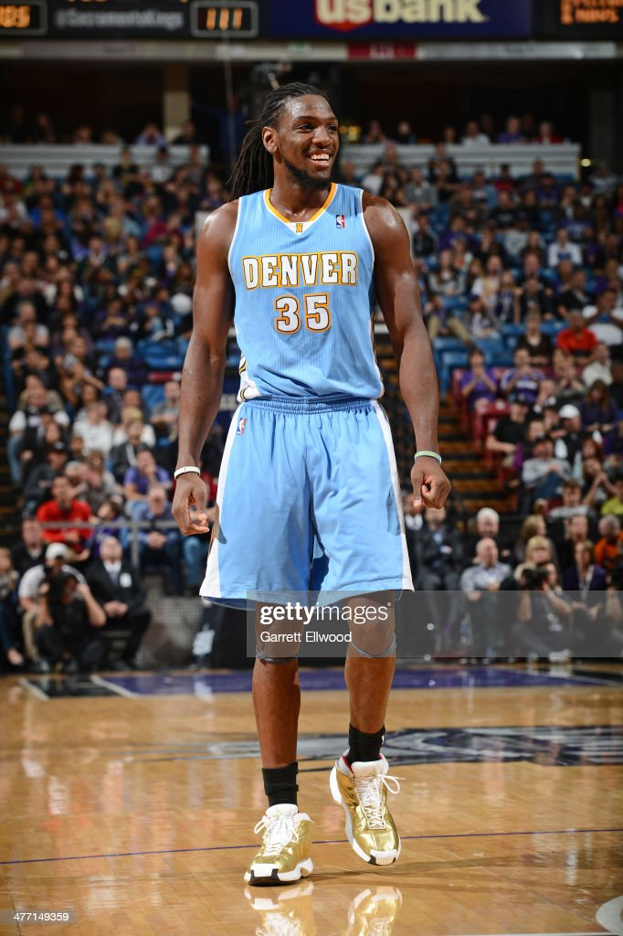 <a gi-track='captionPersonalityLinkClicked' href=/galleries/search?phrase=Kenneth+Faried&family=editorial&specificpeople=5765135 ng-click='$event.stopPropagation()'>Kenneth Faried</a> #35 of the Denver Nuggets looks on against the Sacramento Kings at Sleep Train Arena on January 26, 2014 in Sacramento, California.