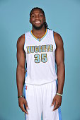 Kenneth Faried of the Denver Nuggets pose for portraits during NBA Media Day on September 23 2014 at the Pepsi Center in Denver Colorado NOTE TO USER...