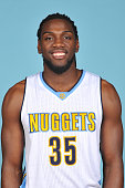 Kenneth Faried of the Denver Nuggets poses for a head shot on September 28 2015 at the Pepsi Center in Denver Colorado NOTE TO USER User expressly...