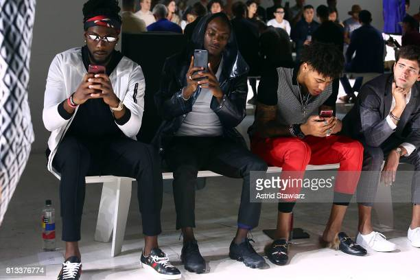 ÊKenneth Faried Young Paris KellyÊOubre and Sean O'Pry attend the EFM Engineered For Motion Spring/Summer 2018 Runway Show at Skylight Clarkson...