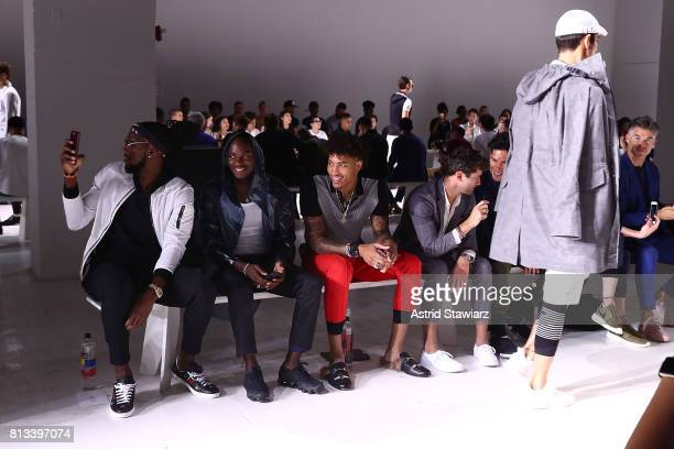 ÊKenneth Faried Young Paris KellyÊOubre Sean O'Pry and Chyno Miranda attend the EFM Engineered For Motion Spring/Summer 2018 Runway Show at Skylight...