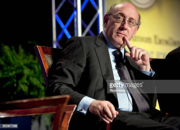 Kenneth Feinberg the US Treasury Department's special master for compensation listens during a panel discussion at the National Association of...