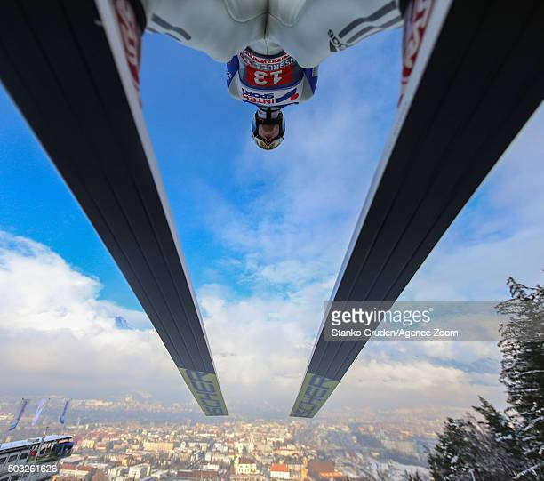 Kenneth Gangnes of Norway takes 3rd place during the FIS Nordic World Cup Four Hills Tournament on January 3 2016 in Innsbruck Austria