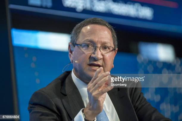 Kenneth Hersh president and chief executive officer of George W Bush Presidential Center speaks at the Milken Institute Global Conference in Beverly...