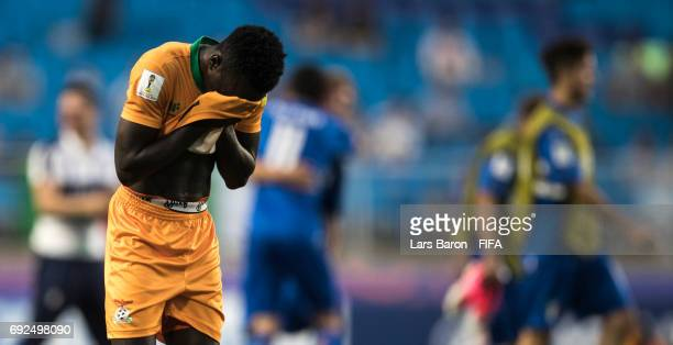 Kenneth Kalunga of Zambia looks dejected after loosing the FIFA U20 World Cup Korea Republic 2017 Quarter Final match between Italy and Zambia at...