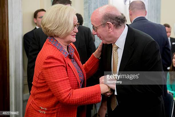 Kenneth 'Ken' Feinberg managing partner and founder of Feinberg Rozen LLP and administer of the General Motors Co compensation fund right greets...