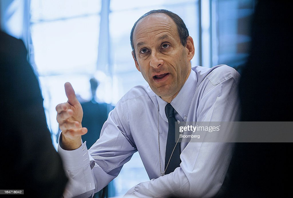 Kenneth 'Ken' Jacobs, chief executive officer of Lazard Ltd., speaks during an interview in New York, U.S., on Wednesday, March 27, 2013. Lazard Ltd. provides domestic and international financial advisory services including mergers and acquisitions, capital markets execution, asset management, and real estate investment banking. Photographer: Michael Nagle/Bloomberg via Getty Images