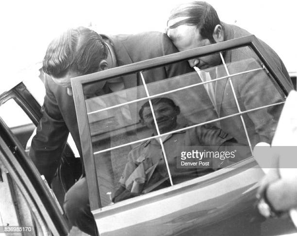 Kenneth O Andersen of 1746 S Elm St left and Robert O Marks of 11076 Elati St Northglenn enter a police car at the police station Friday after being...
