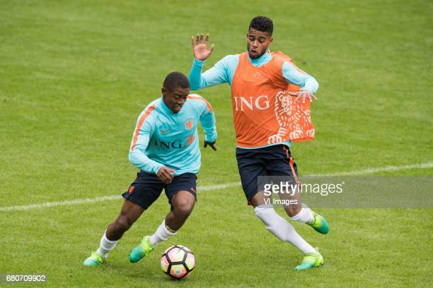 Kenneth Paal of Netherland U23 Jeremiah St Juste of Netherland U23during a training session of Netherlands U21 at KNVB Campus on May 09 2017 in Zeist...