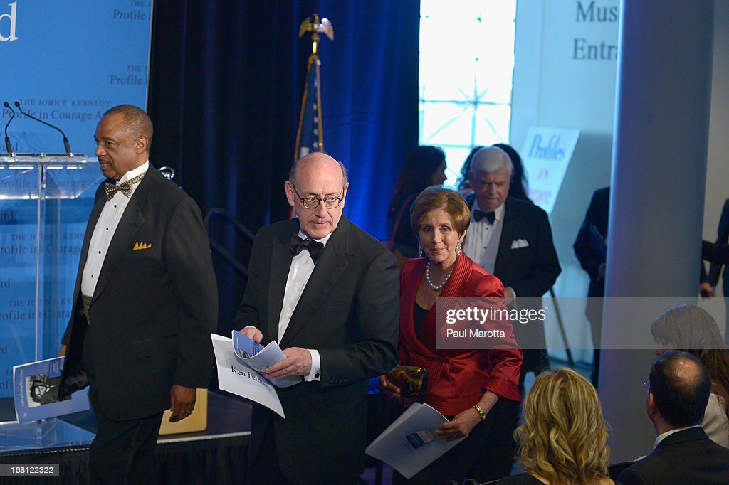 Kenneth R. Feinberg and <a gi-track='captionPersonalityLinkClicked' href=/galleries/search?phrase=Nancy+Pelosi&family=editorial&specificpeople=169883 ng-click='$event.stopPropagation()'>Nancy Pelosi</a> attend the John F. Kennedy Profile In Courage Award Ceremony at The John F. Kennedy Presidential Library And Museum on May 5, 2013 in Boston, Massachusetts.