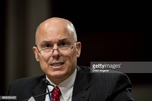 Kenneth Rapuano assistant Secretary of Defense for homeland defense and global security at the US Department of Defense testifies during a Senate...