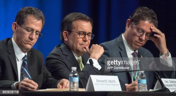 Kenneth Smith Chief Technical Negotiator for Mexico Sec Ildefonso Guajardo Villarreal Mexico Secretary of Economy and Juan Carlos Baker Mexican...