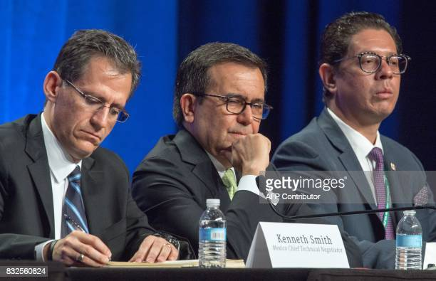 Kenneth Smith Chief Technical Negotiator for Mexico Secy Ildefonso Guajardo Villarreal Mexico Secretary of Economy and Juan Carlos Baker Mexican...