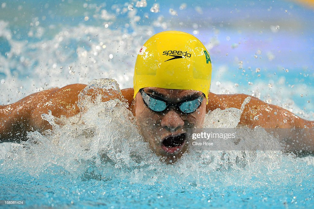 Kenneth To of Australia competes in the Men's 200m Breaststroke heats during day three of the 11th FINA Short Course World Championships at the Sinan Erdem Dome on December 14, 2012 in Istanbul, Turkey.