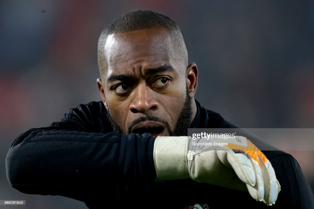 Kenneth Vermeer of Feyenoord during the Dutch Eredivisie match between Feyenoord v Vitesse at the Stadium Feijenoord on December 2, 2017 in Rotterdam Netherlands