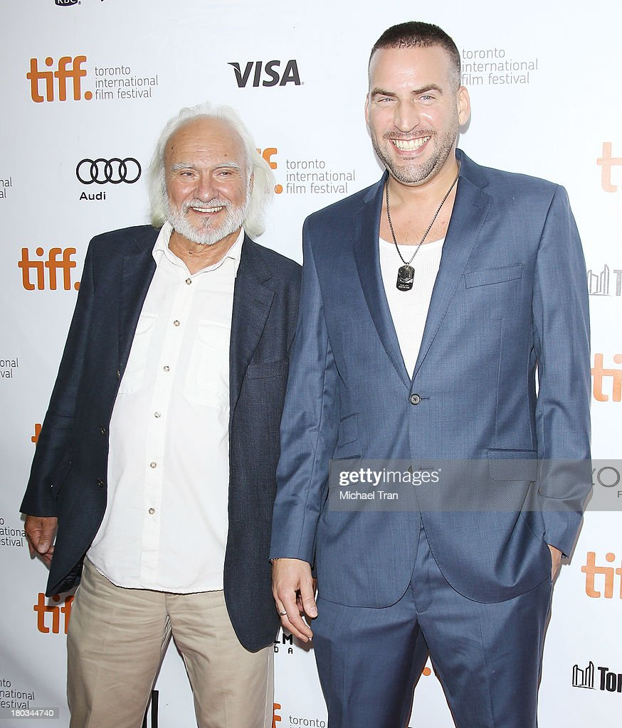Kenneth Welsh and Dax Ravina arrive at 'The Art Of The Steal' premiere during the 2013 Toronto International Film Festival held at Roy Thomson Hall...