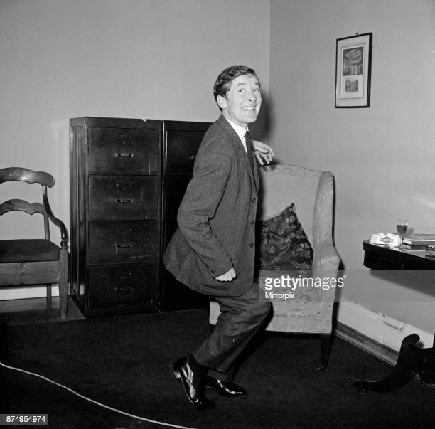 Kenneth Williams pictured in his agent's office in Cork Street London Picture taken 6th December 1967