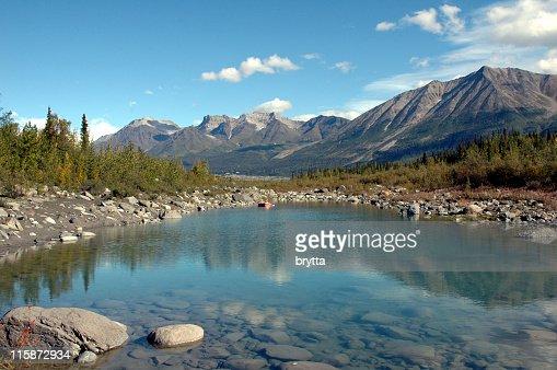 ケニコット川をランゲル St エリアーシュ国立公園、McCarthy 、アラスカます。