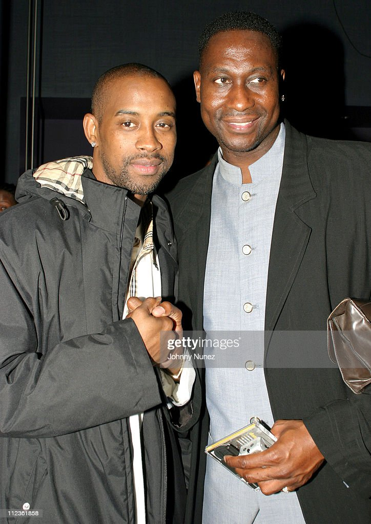 Kenny Anderson of the Indiana Pacers and former NBA player Walter Berry