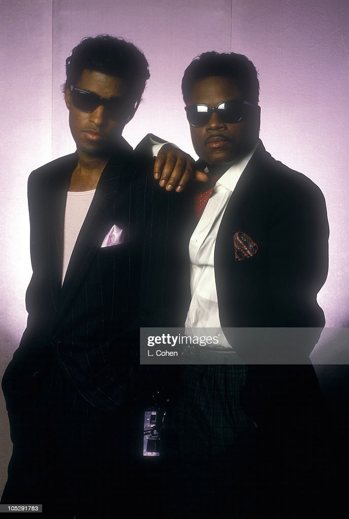 Kenny 'Babyface' Edmonds and Jimmy Jam during Lester Cohen Archives in Los Angeles California United States