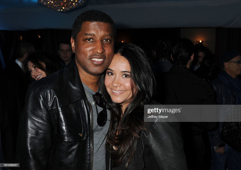 Kenny 'Babyface' Edmonds and Nicole 'Nikki' Pantenburg attend the Universal Music Group Chairman & CEO Lucian Grainge's annual Grammy Awards viewing party on February 10, 2013 in Brentwood, California.