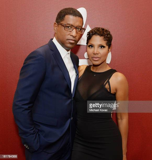 Kenny 'Babyface' Edmonds and Toni Braxton attend The Recording Academy presentation of A Conversation with Toni Braxton and Babyface at The Recording...