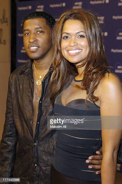 Kenny 'Babyface' Edmonds and wife Tracey Edmonds during PLAYSTATION 2 and Russell Simmons Join HIPHOP Summit Action Network 2004 at Beverly Hills...
