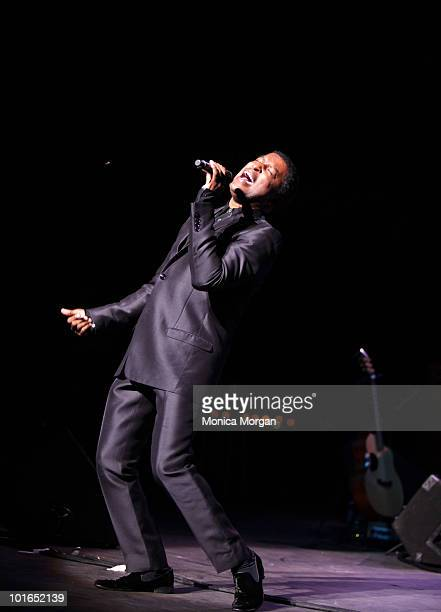 Kenny 'Babyface' Edmonds perform at Chene Park on June 5 2010 in Detroit Michigan