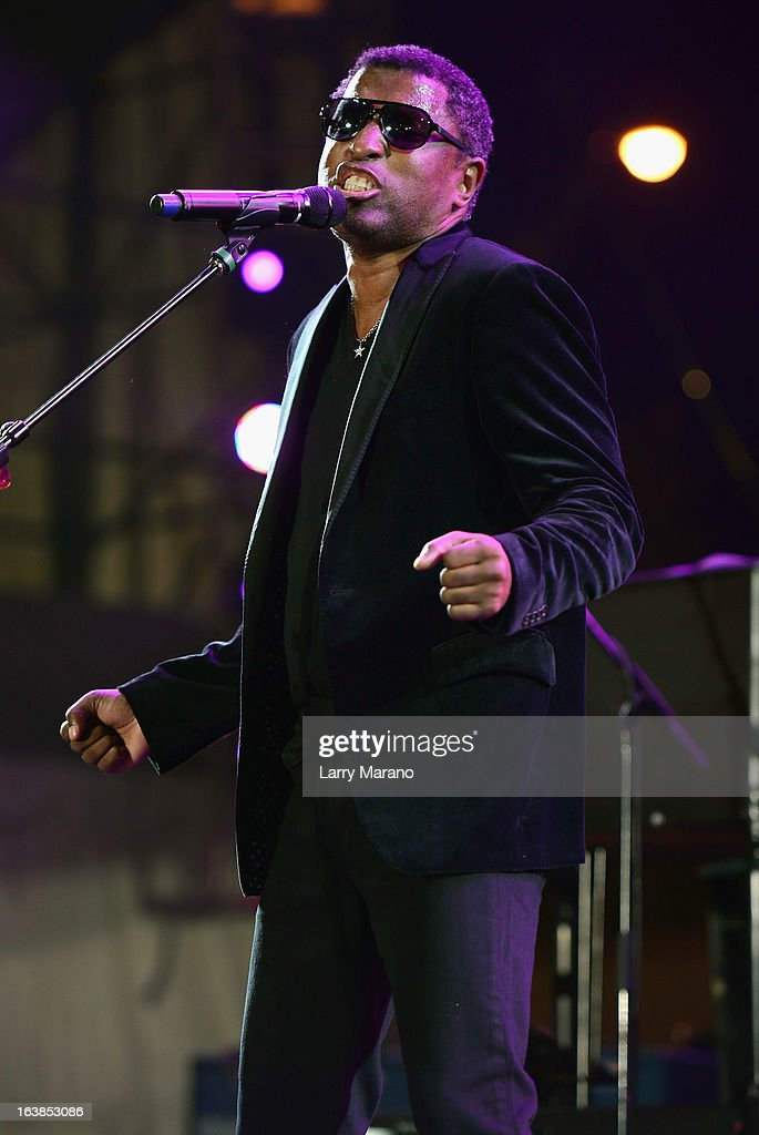 Kenny 'Babyface' Edmonds performs at the 8th Annual Jazz In The Gardens Day 1 at Sun Life Stadium presented by the City of Miami Gardens on March 16, 2013 in Miami Gardens, Florida.
