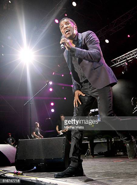 Kenny 'Babyface' Edmonds performs onstage at 11th Annual Jazz In The Gardens Music Festival Day 2 at Sunlife Stadium on March 20 2016 in Miami Florida
