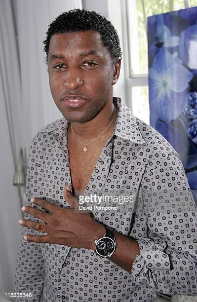 Kenny 'Babyface' Edmonds wearing Pippo Italia during 2005 MTV VMA Grubman/Cheban PR Presents Pippo Italia Day 1 at Catalina Hotel in Miami Florida...