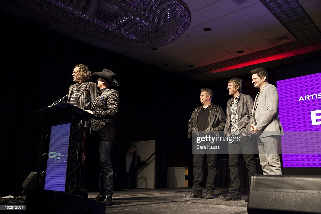 Kenny Big, <a gi-track='captionPersonalityLinkClicked' href=/galleries/search?phrase=John+Rich+-+Singer&family=editorial&specificpeople=211184 ng-click='$event.stopPropagation()'>John Rich</a>, Gary LeVox, <a gi-track='captionPersonalityLinkClicked' href=/galleries/search?phrase=Joe+Don+Rooney&family=editorial&specificpeople=241526 ng-click='$event.stopPropagation()'>Joe Don Rooney</a> and <a gi-track='captionPersonalityLinkClicked' href=/galleries/search?phrase=Jay+DeMarcus&family=editorial&specificpeople=224578 ng-click='$event.stopPropagation()'>Jay DeMarcus</a> attend CRS 2013 on February 27, 2013 in Nashville, Tennessee.