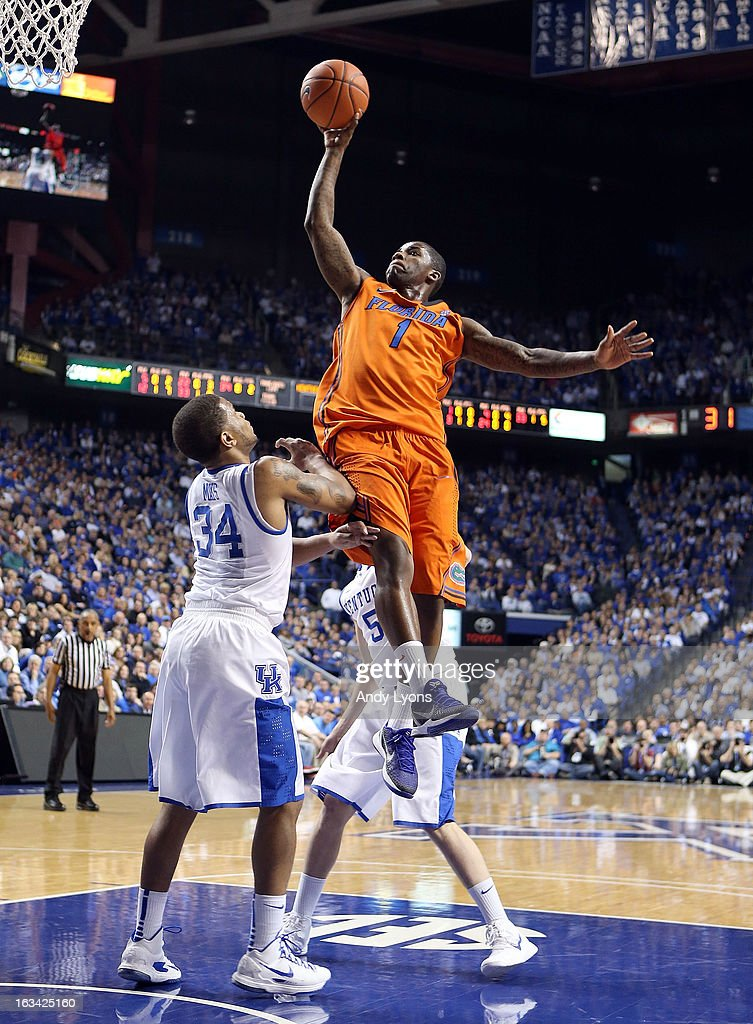 Kenny Boynton #1 of the Florida Gators shoots the ball during the game against the Kentucky Wildcats at Rupp Arena on March 9, 2013 in Lexington, Kentucky.