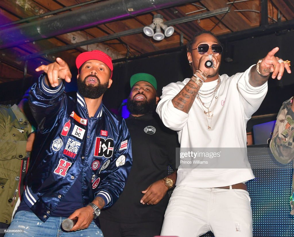 Kenny Burns and Future on Stage at The Rich and Famous All Star Weekend Grand Finale at The Metropolitan on February 20, 2017 in New Orleans, Louisiana.