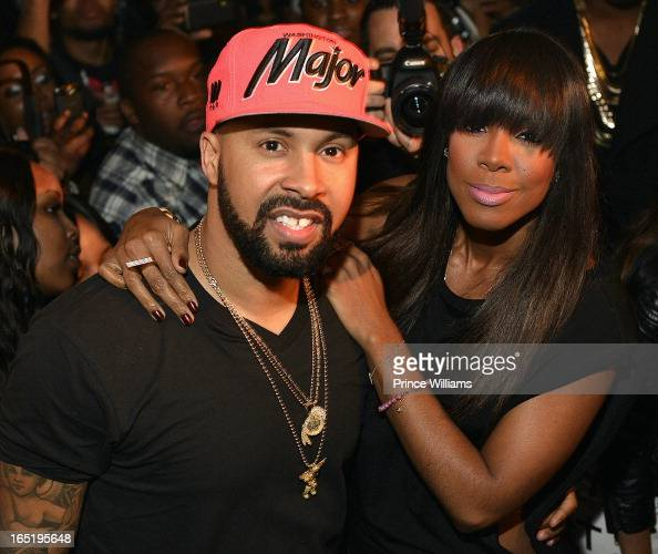 Kenny Burns and Kelly Rowland attend party hosted by Kelly Rowland at Compound on March 30 2013 in Atlanta Georgia