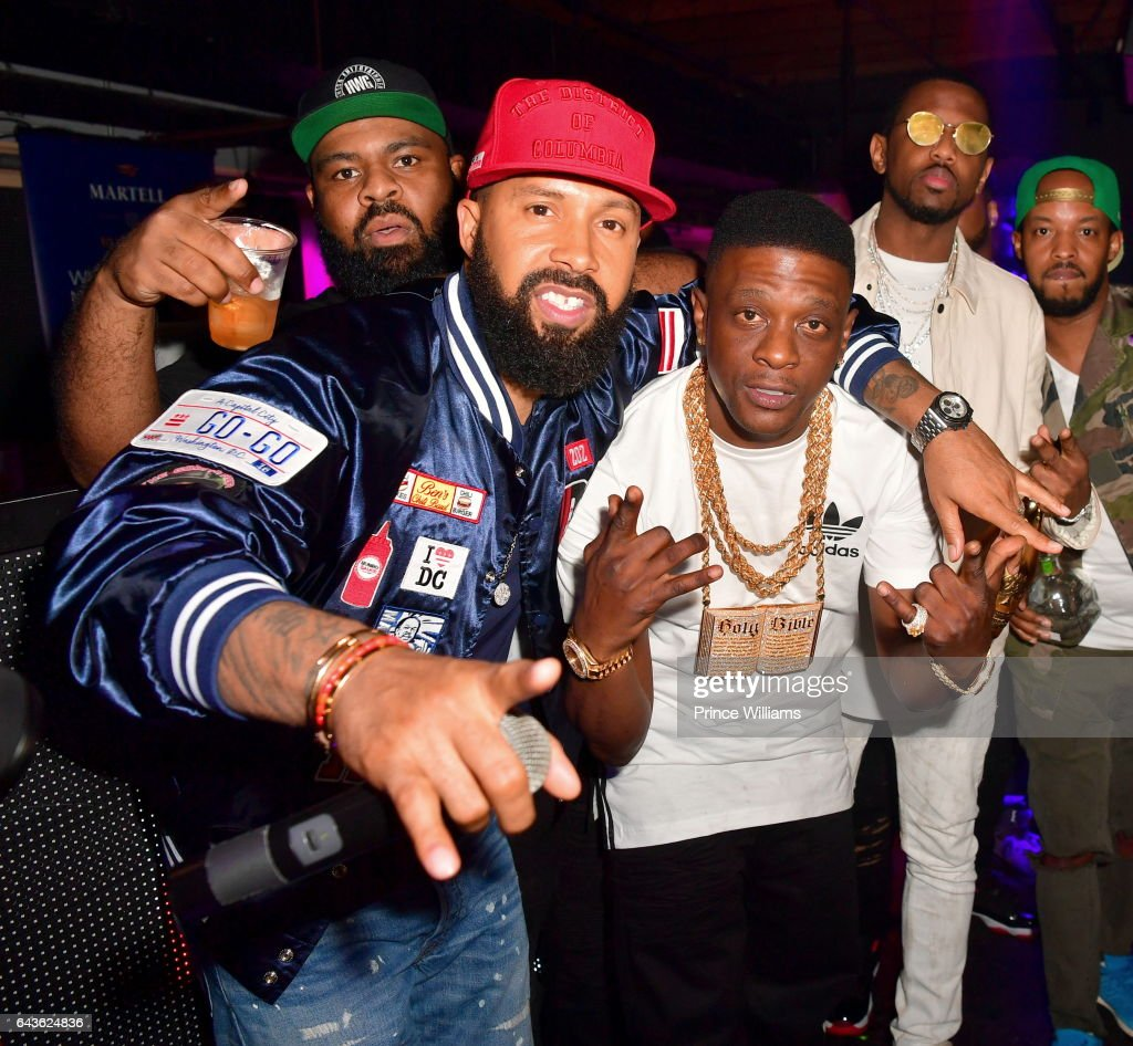 Kenny Burns, Lil Boosie and Fabolous attend The Rich and Famous All Star Weekend Grand Finale at The Metropolitan on February 20, 2017 in New Orleans, Louisiana.