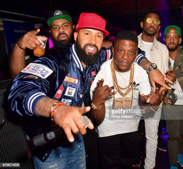Kenny Burns Lil Boosie and Fabolous attend The Rich and Famous All Star Weekend Grand Finale at The Metropolitan on February 20 2017 in New Orleans...